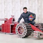 DIY Coca Cola F1 Racing Car from Cans